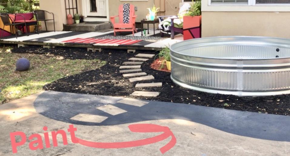 diy painted concrete, paint concrete, concrete paint, diy steps